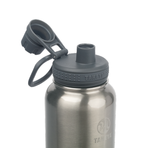 Takeya Actives Insulated Stainless Steel Water Bottle Perspective: top