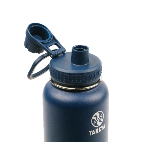 Takeya Actives Insulated Bottle - Midnight Perspective: top