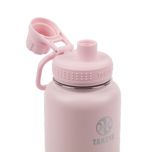 Takeya Actives Insulated Bottle - Blush Perspective: top