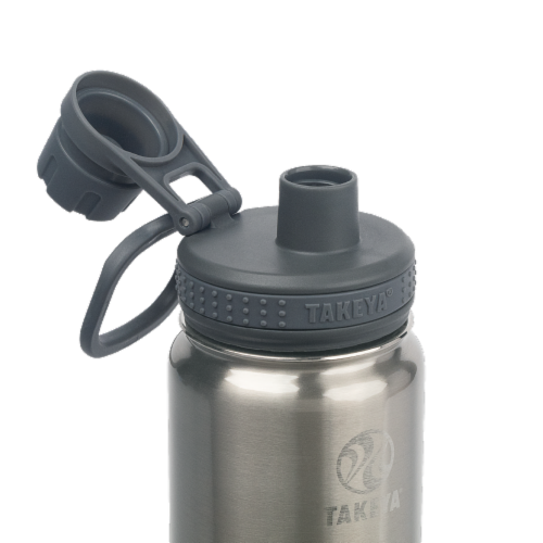 Takeya Insulated Stainless Steel Bottle with Spout Lid Perspective: top