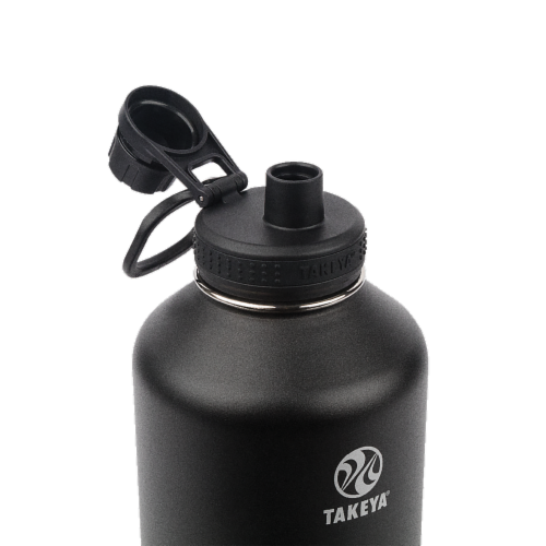 Takeya Actives Insulated Stainless Steel Water Bottle - Onyx Perspective: top