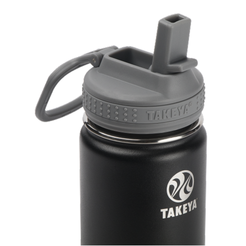 Takeya Active Kids Bottle with Straw - Blackberry Perspective: top