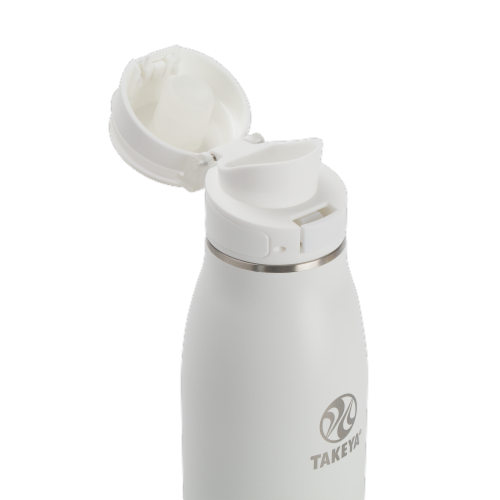 Takeya Insulated Flip Cap Stainless Steel Bottle - Arctic Perspective: top