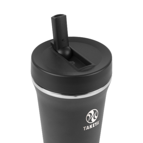 Takeya Tumbler Insulated Straw Bottle - Onyx Perspective: top