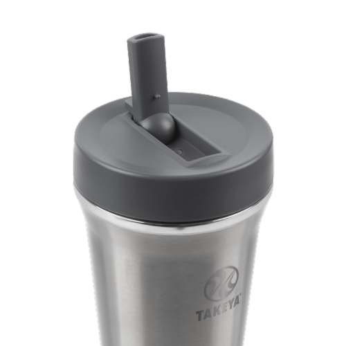 Takeya Tumbler Stainless Steel Bottle with Straw Perspective: top