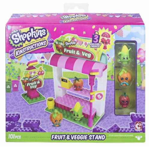 Shopkins Kinstructions Fruit & Veggie Stand (101 Pieces) Perspective: top