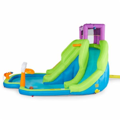 Kahuna 90360 Triple Blast Outdoor Inflatable Splash Pool Backyard Water Slide Perspective: top