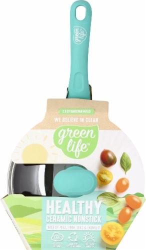 GreenLife Diamond Ceramic Non-Stick Sauce Pan - Teal Perspective: top