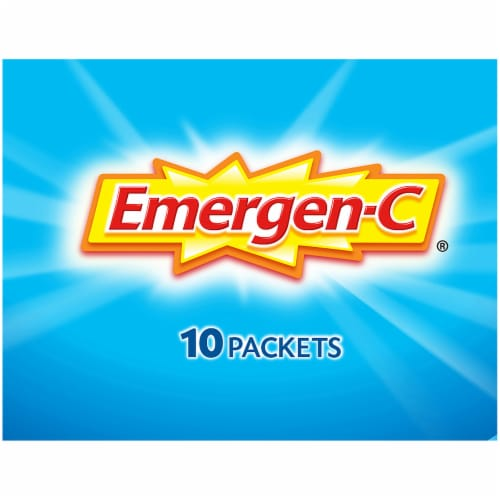 Emergen-C Immune Plus Blueberry-Acai Flavored Fizzy Drink Mix Packets Perspective: top