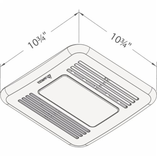 Delta 80cfm Led Hmsnr Bath Fan 80HLED Perspective: top