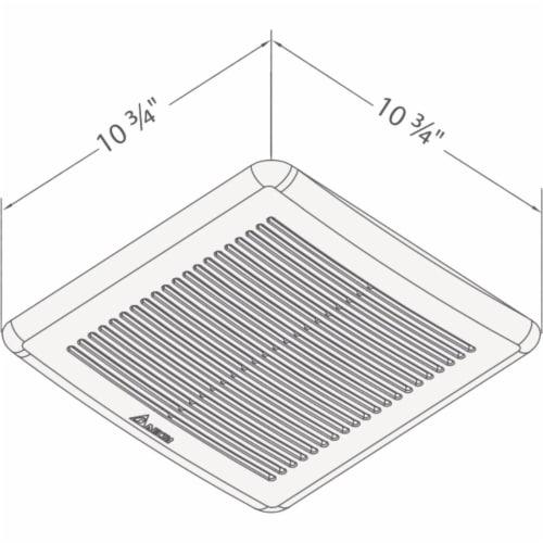 Delta 100cfm Humdsnsr Bath Fan 100HS Perspective: top