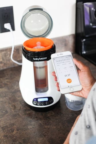 Baby Brezza Bluetooth Bottle Warmer Perspective: top