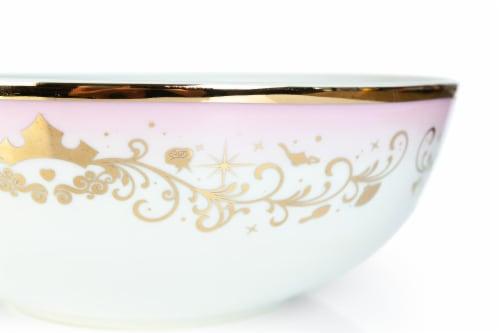 Disney Princess Ceramic Serving Bowl | Elegant Dinner Bowl Measures 10.5 Inches Perspective: top
