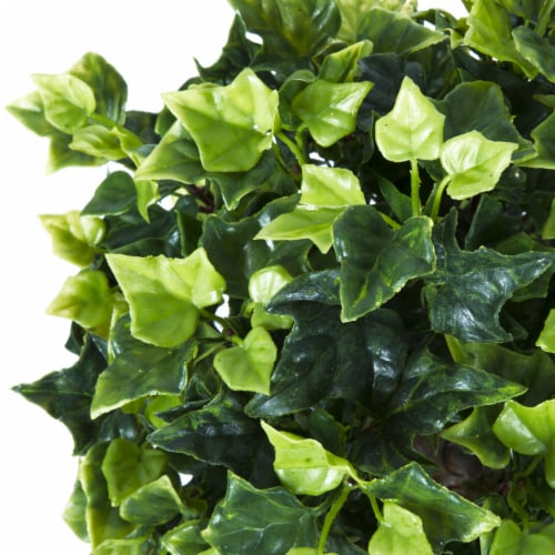 Pure Garden 30 Inch English Ivy Single Ball Topiary Tree - Set of 2 Perspective: top