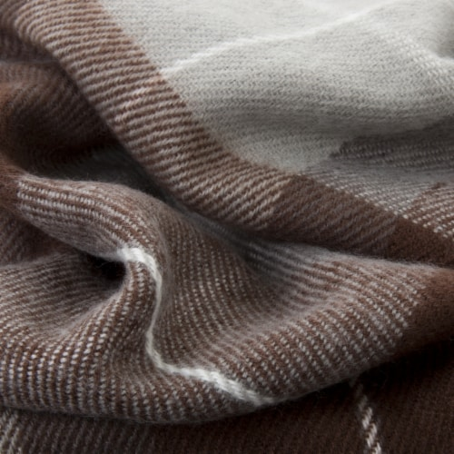 Lavish Home Cashmere-Like Blanket Throw - Brown Perspective: top