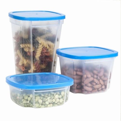 49-Piece Chef Buddy Swirl Around BPA-Free Food Storage Containers & Organizer Perspective: top
