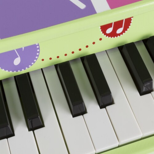 25-Key Musical Toy Piano Larger Baby Wooden Toy Perspective: top