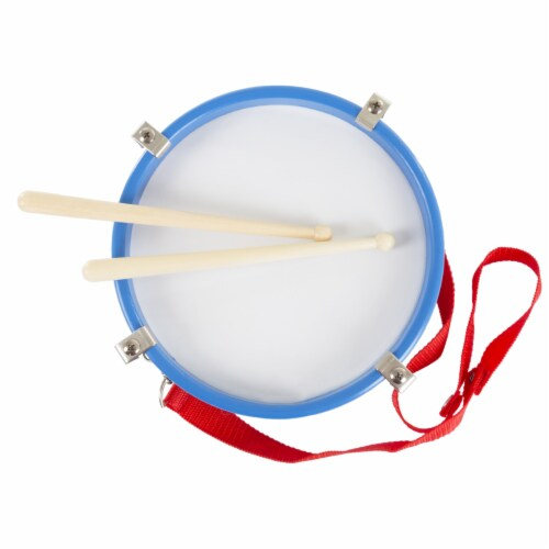 Children's Toy Snare Marching Drum, Double-Sided with Adjustable Neck Strap and Two Wood Drum Perspective: top