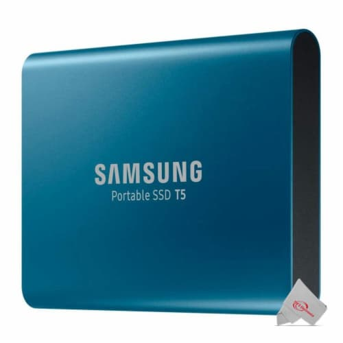 SAMSUNG T5 Portable 500GB SSD USB 3.1 External Solid State Drive 500G MU-PA500B Perspective: top