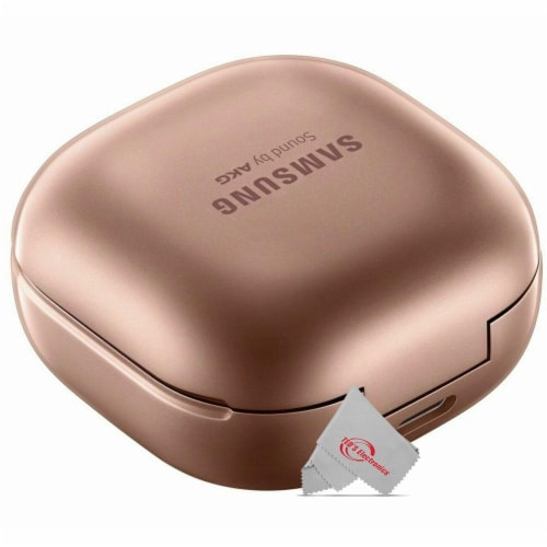 Samsung True Sound Galaxy Buds Live Bluetooth Sm-r180 Earbuds Bronze With Charging Case Perspective: top