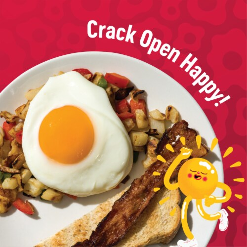 Happy Egg Co. Free Range Grade A Large Brown Eggs Perspective: top