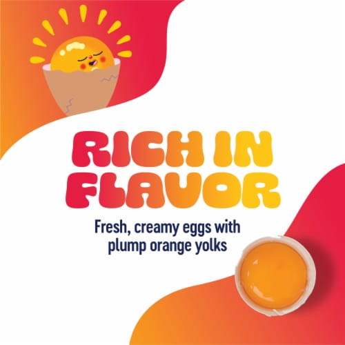 Happy Egg Co. Free Range Large Brown Eggs Perspective: top