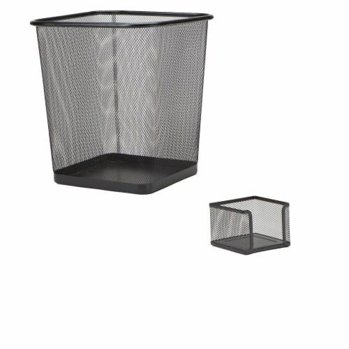 Mind Reader 6-Piece Mesh Desk Organizer Set - Black Perspective: top