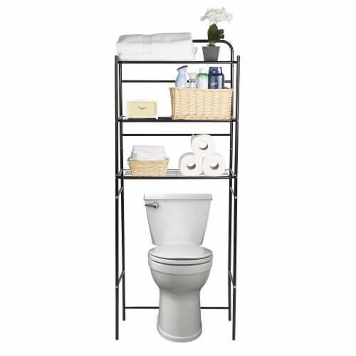 Mind Reader 3-Tier Over the Toilet Rack - Black Perspective: top