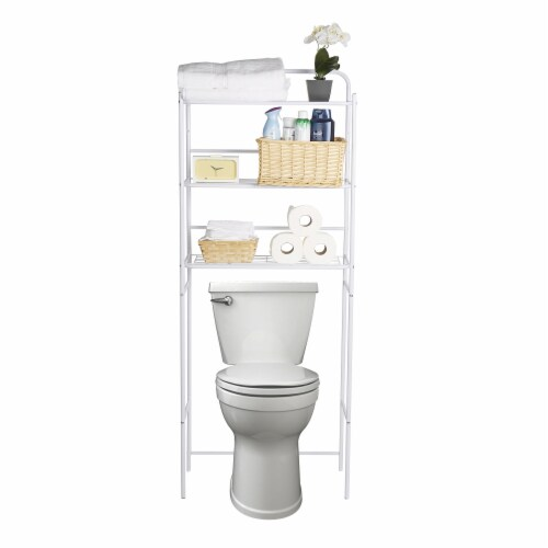 Mind Reader 3-Tier Over the Toilet Rack - White Perspective: top