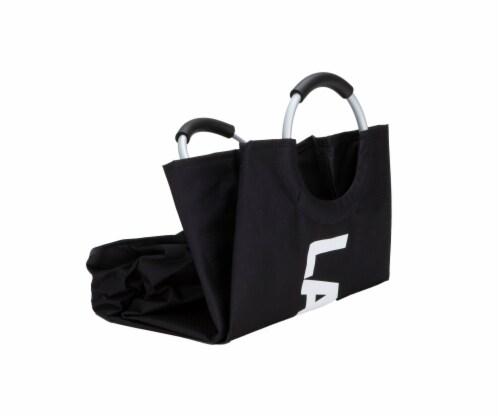 Mind Reader 82 Liter Large Laundry Hamper Basket - Black Perspective: top