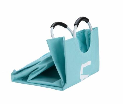 Mind Reader 82 Liter Large Laundry Hamper Basket - Blue Perspective: top