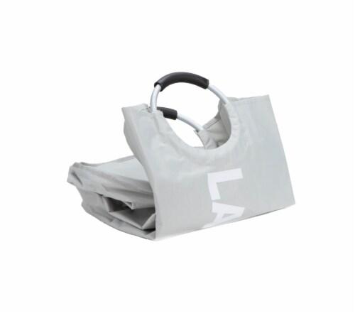Mind Reader 82 Liter Large Laundry Hamper Basket - Grey Perspective: top