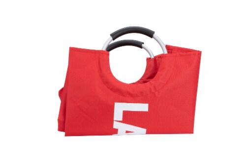 Mind Reader Large Laundry Hamper Basket - Red Perspective: top