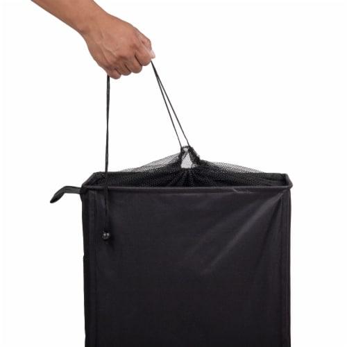 Mind Reader Slim Rolling Laundry Hamper With Wheels - Black Perspective: top