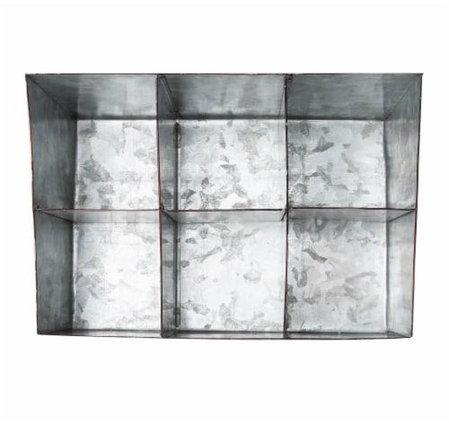 Mind Reader 6 Compartments Galvanized Steel Organizer - Silver Perspective: top