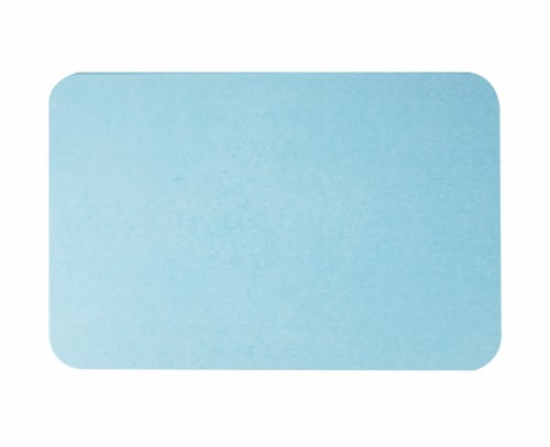 Mind Reader Diatomite Fast Drying Bath Mat - Blue Perspective: top
