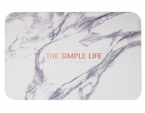 Mind Reader Diatomite Fast Drying Bath Mat - Granite Perspective: top