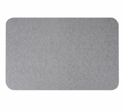 Mind Reader Diatomite Fast Drying Bath Mat - Gray Perspective: top