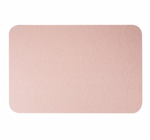Mind Reader Diatomite Fast Drying Bath Mat - Pink Perspective: top