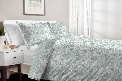 Martha Stewart Gabrielle Damask Comforter Set - 3 Piece Perspective: top