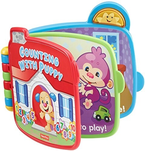 Fisher-Price Electronic Laugh & Learn Counting with Puppy Book Perspective: top
