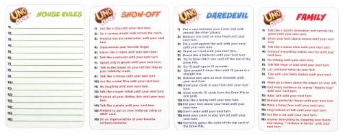 Mattel Uno Dare!™ Card Game Perspective: top