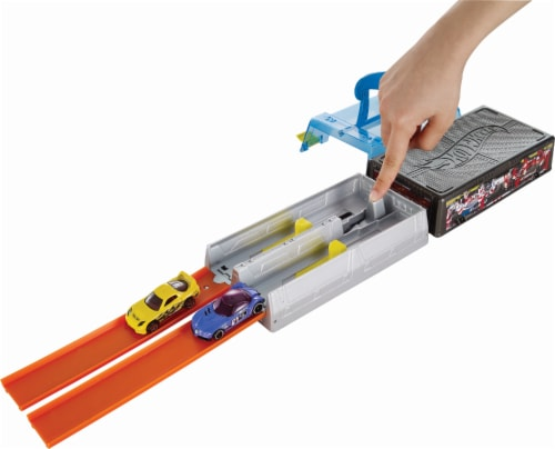 Mattel Hot Wheels® Race Case Track Set Perspective: top