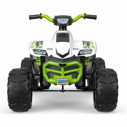 Fisher Price Power Wheels Battery Powered Electric Kids Car ATV Ride Toy, Green Perspective: top