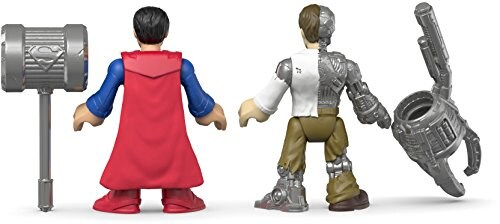 Fisher-Price Imaginext DC Super Friends Action Figures - Superman & Metallo Perspective: top