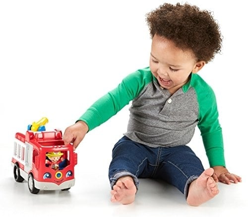 Fisher-Price® Little People Helping Others Fire Truck Perspective: top