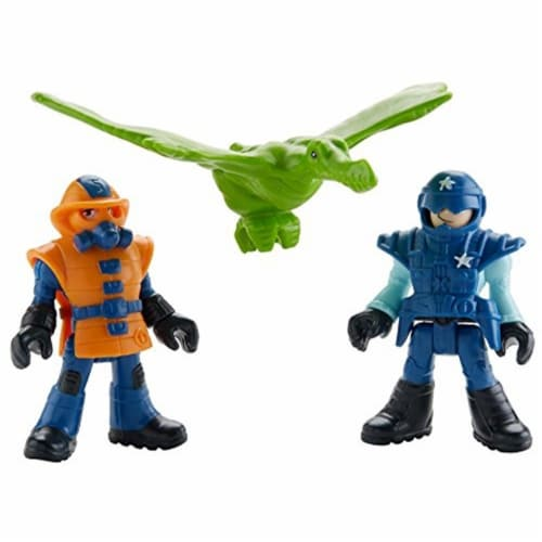 Fisher-Price Imaginext Jurassic World, Park Workers & Pterodactyl Perspective: top
