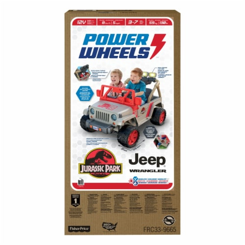 Fisher-Price® Power Wheels Kids Electric 12 Volt Jurassic Park Jeep Perspective: top