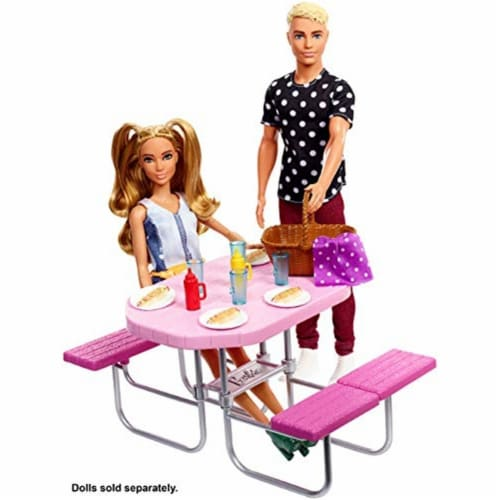 Mattel Barbie® Picnic Table Playset Perspective: top