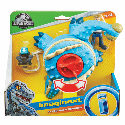 Fisher-Price® Imaginext Jurassic World Ankylosaurus & Action Figure Set Perspective: top